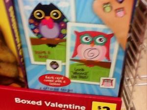 Dollar Store 1 - Owls Valentines